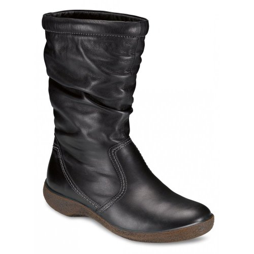 Ecco Freeze Leather Lined Boot 51043 101 Blk 7 / 40