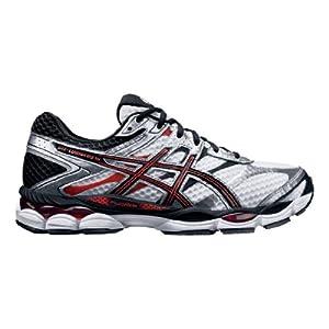 ASICS Men's Gel-Cumulus 16 4E Running Shoe,White/Black/Red,9.5 4E US