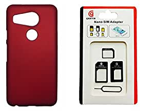 XUWAP Back Hard Case Cover With Sim Adapter For Nexus 5X - Red