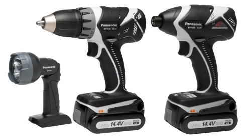 Panasonic EYC142B 14.4-Volt Li-ion Impact Driver/Drill & Driver Combo Kit with Light