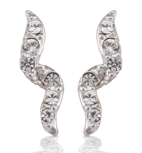 Lifestyle Infinity Lifestyle Gold Plated Crystal Lined Earring For Women (723347G) (Transperant)