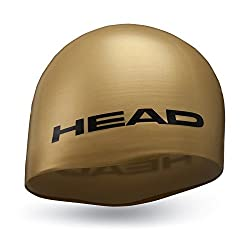Head Swim Cap Silicone Moulded (Gold)