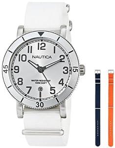 Nautica Women's N11632M Analog Display Quartz White Watch