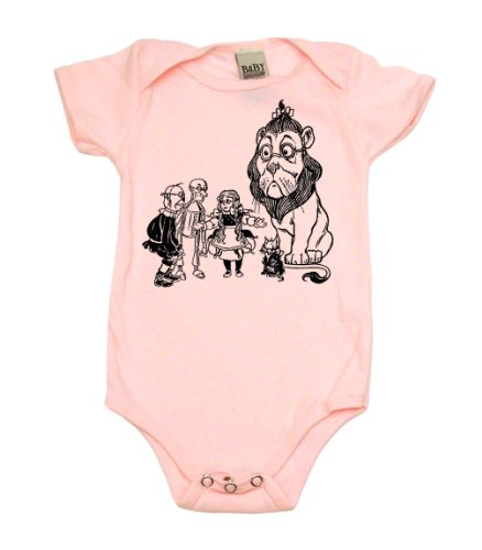 Wizard Of Oz On Infant Onesie, 6-12 Mo, Light Pink front-1031956