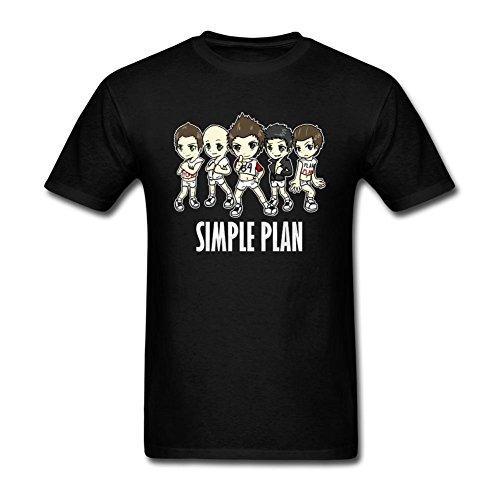Newm Men's Simple Plan Vector O Neck Short Sleeve T Shirt