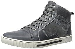 Steve Madden Men\'s Peers A Fashion Sneaker, Grey, 10 M US
