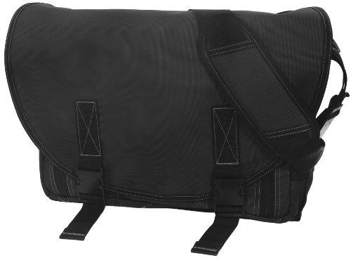 Dadgear The Classic Messenger Diaper Bag - Coal Black