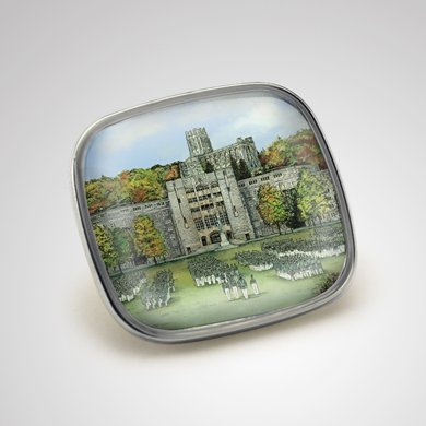 West Point Eglomise Lapel Pin