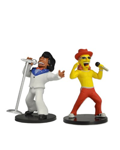 "NECA The Simpsons 25th Anniversary - Kid Rock and James Brown Series 1 Miniature Figure (2-Pack), 5"" - 1"
