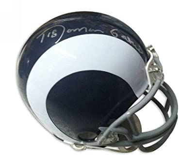 Roman Gabriel Los Angeles Rams Autographed Mini Helmet - 100% Authentic Autograph - Genuine NFL Signature - Perfect Sports Gift