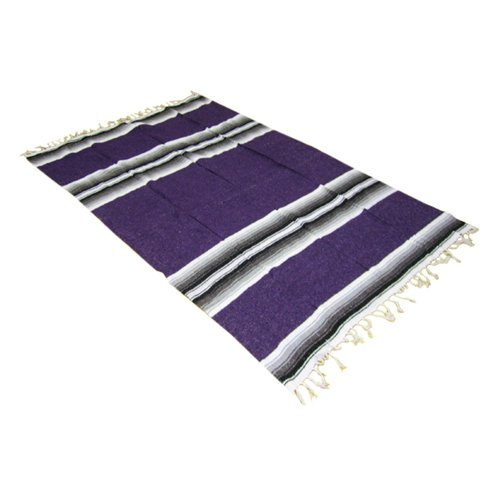 54″ x 80″ Striped Mexican Blanket – Yoga Studio Quality