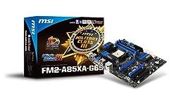 MSI Socket FM2/AMD A85/DDR3/SATA3&USB3.0/A&GbE/ATX Motherboard FM2-A85XA-G65