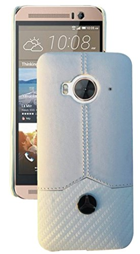 BOUNCEBACK PREMIUM LEATHER LOOKING HARD BACK CASE COVER FOR HTC ONE ME DUAL SIM-WHITE