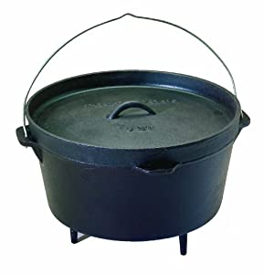 Texsport Pre-Seasoned Cast Iron Dutch Oven - 8 Quart by Texsport