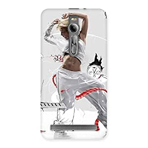 Cute White Dance Red Ribbon Back Case Cover for Asus Zenfone 2