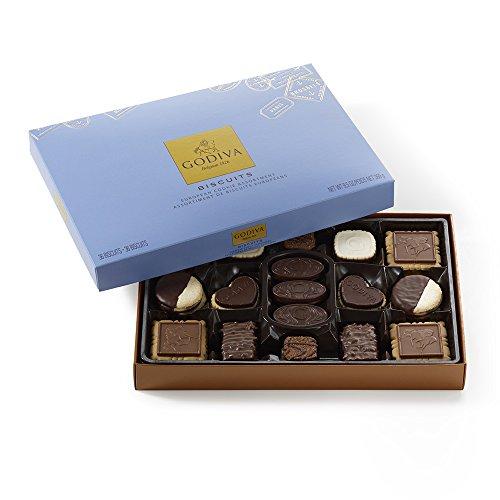 Godiva Chocolatier Chocolate Biscuit Box, 36 Count