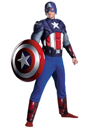 Captain America Classic Muscle Costume - X-Large - Chest Size 42-46