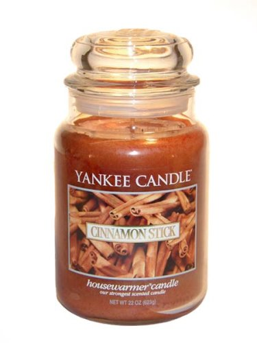 Yankee Candle Large 22-Ounce Jar Candle, Cinnamon Stick