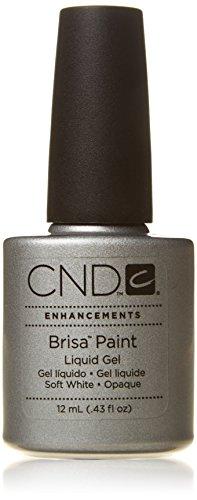 CND trattamenti nail polish, Brisa Gel Liquido vernice bianco puro opaco 43ml