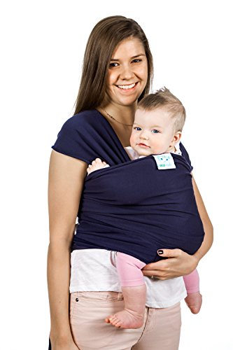 Read About Eco Cub Baby Wrap - Premium Infant Carrier Sling - Best Soft Navy Blue Cotton Fabric and ...