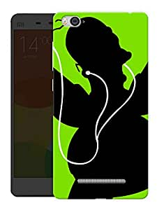 "Humor Gang Shadow With Headphones - Music Printed Designer Mobile Back Cover For ""Xiaomi Redmi Mi 4C"" (3D, Matte, Premium Quality Snap On Case)"