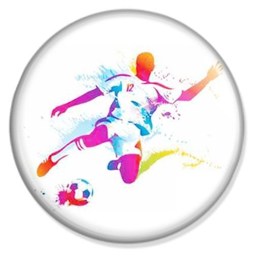 Button Fußball Spieler - Sport Badge, Sport Pin, Sport Anstecker, Sport Button, Sport Ansteckpin