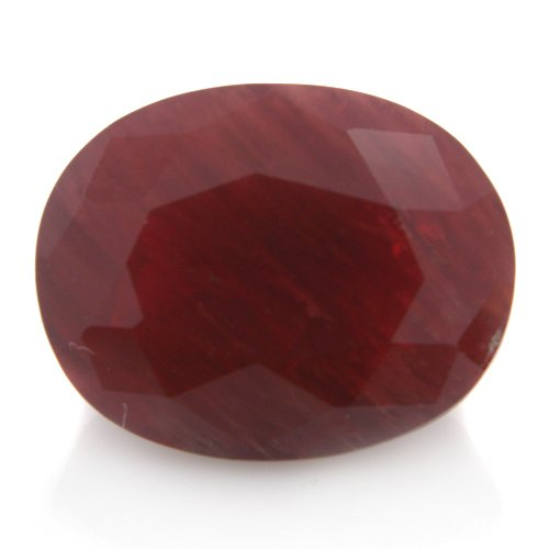 Natural Africa Red Andesine Loose Gemstone Oval Cut 12*10mm 5.45cts VS Grade