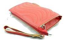 Vivian & Vincent Faux Leather Evening Handbag Shoulder Crossbody Bag Wallet (Red)