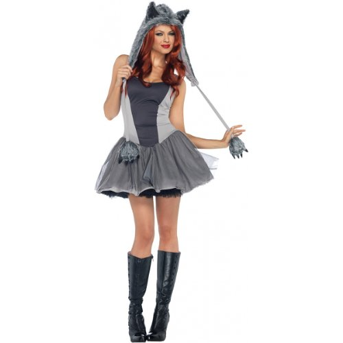 Gorgeous Grey Wolf Costume - Medium/Large - Dress Size 8-12