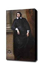 Anthony van Dyck Caesar Alexander Scaglia Canvas Art Print, BLACK edge; 16 X 26