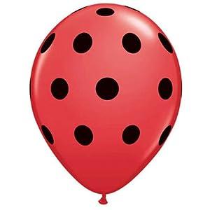 "Amazon.com : Ladybug Dots 11"" Printed Latex Balloons (6 ct"