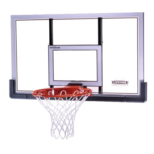Lifetime 73729 Shatter Guard 48 Inch Basketball Backboard & Rim Combo