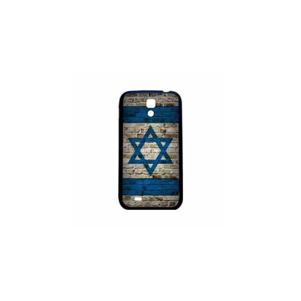 Israel Brick Wall Flag Samsung Galaxy S4 Black Silcone Case   Provides Great Protection