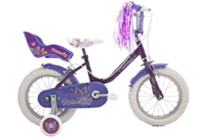 Raleigh Butterfly Girls Bike - Pink/Purple, 14 Inch (Old Version)