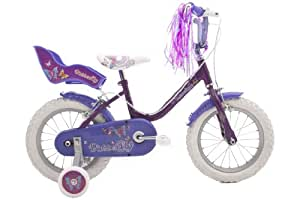 Raleigh Butterfly Girls Bike - Pink/Purple, 14 Inch