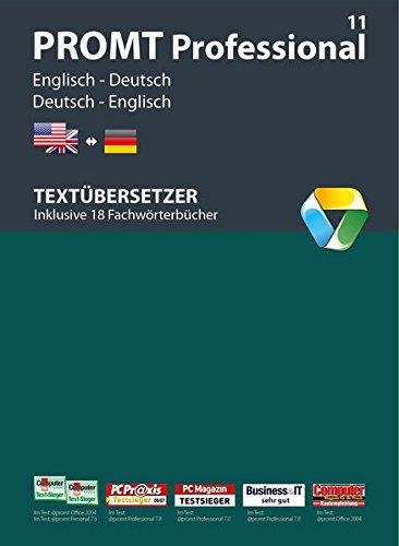 Promt professional 11 englisch deutsch von fachmedien ausgezeichnetes bersetzungsprogramm for Deutsch englisch translator