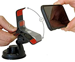 Car Phone Mount, Smart Phone Holder. The Grip & Drive Mount Is for Iphone 6s Plus 5s 5c, 4, Samsung Galaxy S6 Edge, LG G4, Google Nexus 5, 4. Mounts On Car Windshield And Other Flat Smooth Surfaces.