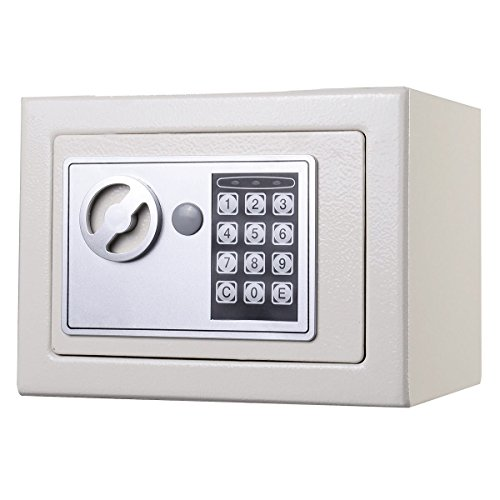 NEW Small White Digital Electronic Safe Box Keypad Lock Home Office Hotel Gun (Baby Lock Quarter Inch Foot compare prices)