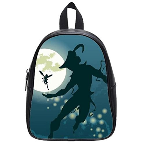 Peter Pan Custom Student Shoulder Backpack School Bag Travel Backpack S (Peter Pan Backpack compare prices)