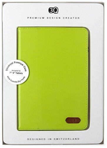 3Q Custodia Tablet 8 pollici Cover 7 pollici Universale Novità maggio 2016 Porta Tablet Cover Design Esclusivo Svizzero Custodia Universale Verde