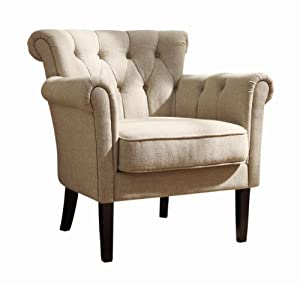 Homelegance 1193f1s flared arm accent chair neutral