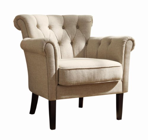 Homelegance 1193F1S Flared Arm Accent Chair, Neutral front-965702