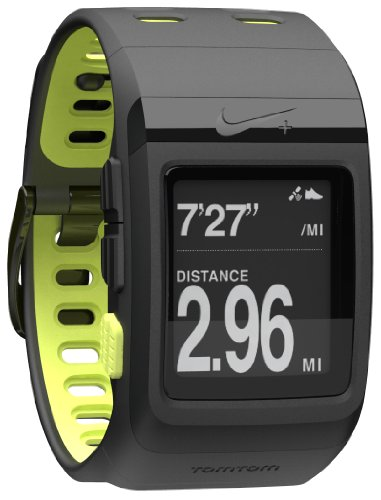 Nike+ SportWatch GPS Powered by TomTom (Black/Volt) Running Gps