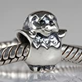 Baby Chick Bursting Out of its Egg Authentic 925 Sterling Silver Bead Fits Pandora Chamilia Biagi Troll Charms Europen Style Bracelets