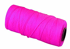 Bon 11-882 18 No.250-Feet EZC Bricklayers Braided Nylon Line, Neon Pink