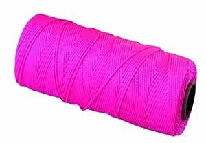 Bon 11-882 18 No.250-Feet EZC Bricklayers Braided Nylon Line, Neon Pink