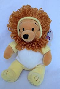 "Retired Disney Zodiac Winnie the Pooh Astrological Astrology Leo 8"" Plush Pooh Bear Lion Doll"