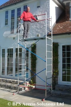 5m DIY Aluminium Scaffold Tower with 2 outriggers