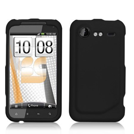 Rubberized Black Hard Protector Case Cover For HTC Droid Incredible 2 ADR6350