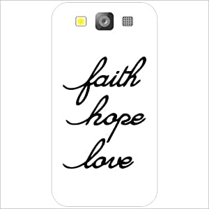 Samsung I9300 Galaxy S3 - Lazer Print Faith & Love & Hope Phone Cover